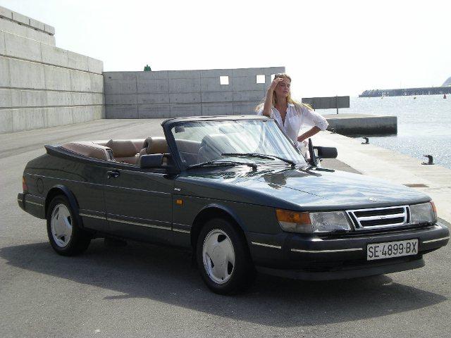 alquiler Saab cabrio verde tyreaction barcelona