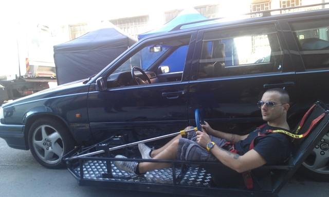 fx efectos especiales tyreaction barcelona españa jordi nebot conducción desde fuera exterior coche 1
