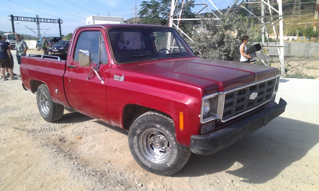 Pickup chevy granate front