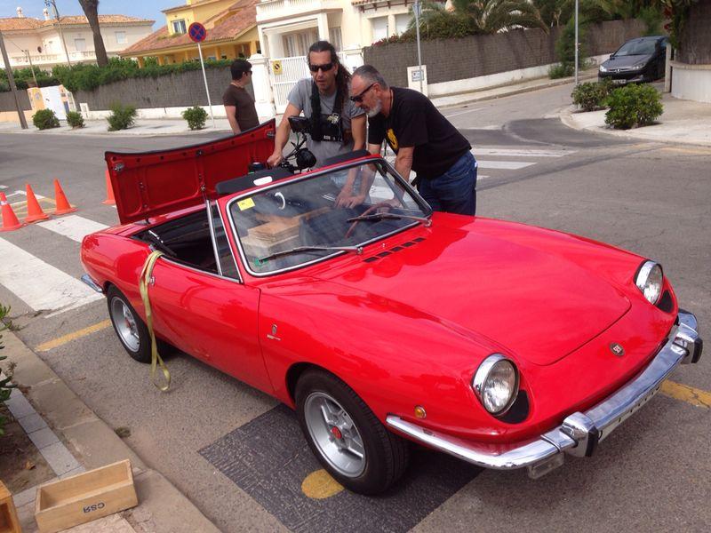 alquiler Seat spider cabrio clasico rojo anuncio pelicula spot tyreaction