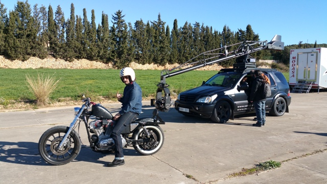 Especialistas de cine conduccion stunt peliculas anuncios tyreaction jordi nebot barcelona españa audi a1 new 2
