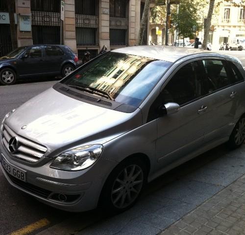 Mercedes clase B plata