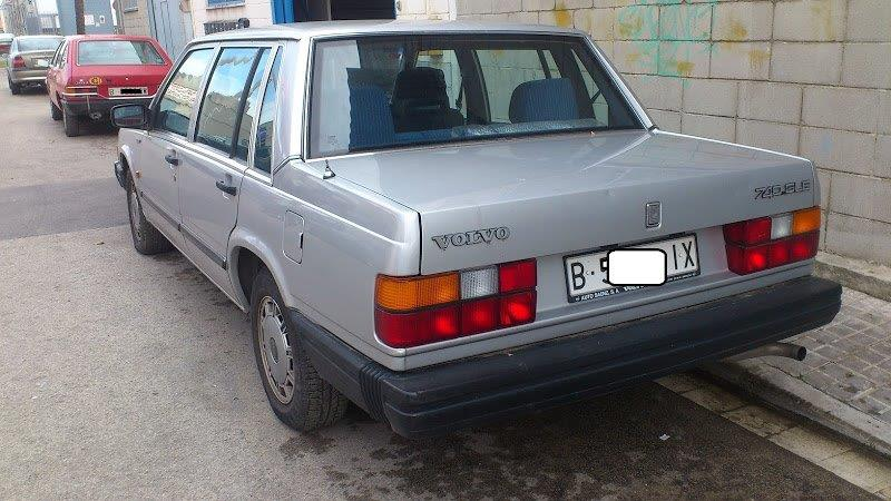 P0014 Volvo 740 plata tras
