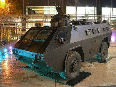 P0013 alquiler tanque tanqueta para anuncio pelicula tyreaction barcelona
