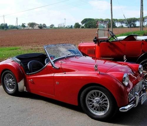 10156 Triumph TR3A cabrio rojo 1960