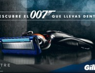 Gillette Spectre 007 Bond making off tyreaction vehiculos escena portada