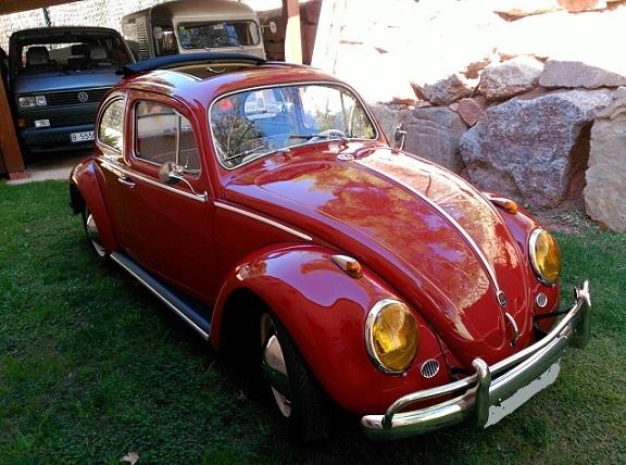 P0112 vw Beetle rojo 1962