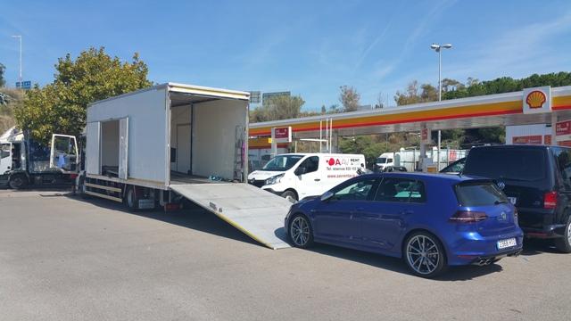 transporte cabinado para rodajes tyreaction