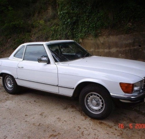 P0018 Mercedes 350 SL 1972 convertible blanco