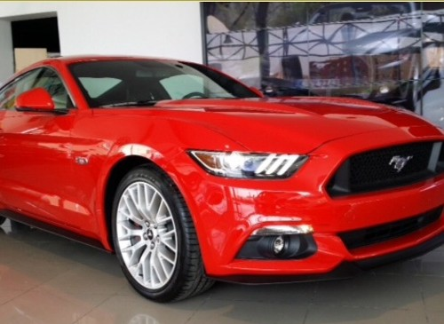 10402 alquiler Ford Mustang barcelona rojo front
