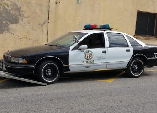 P0035 Alquiler coche policia los angeles en barcelona tyreaction chevrolet caprice