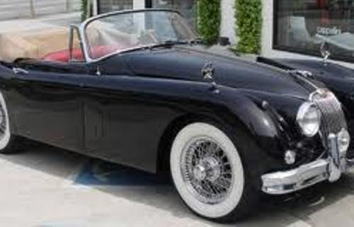 P0047 Jaguar XK 150 cabrio azul