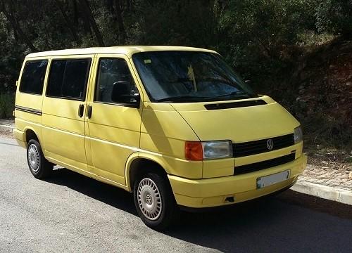 P0074 vw T4 amarilla