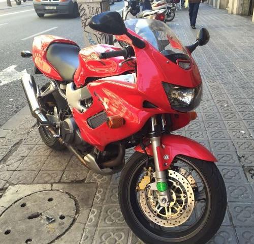 P0128 Honda VFR rojo front