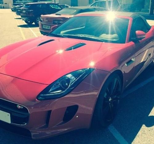 00002 Alquiler superdeportivo Jaguar F-Type descapotable rojo Barcelona Tyreaction