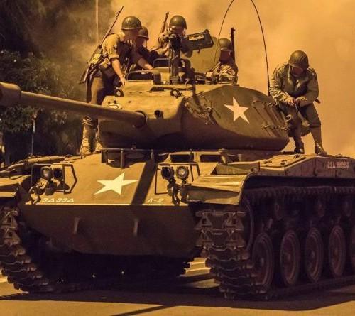 PM143 Alquiler Tanque para pelicula anuncio militar tyreaction front 4