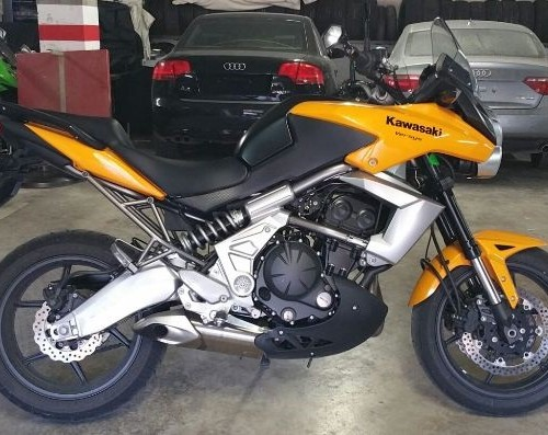 P0134 Kawasaki Versys amarillo