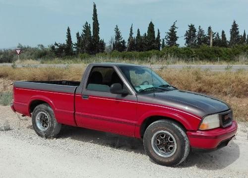P0001 GMC pickup rojo