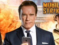 mobile strike making off Arnold Schwarzenegger in The Wall Tyreaction