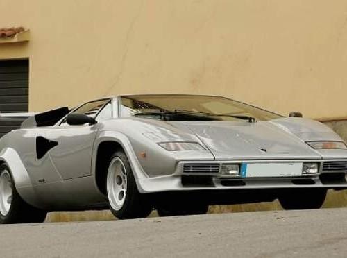 10446 Alquiler Lamborghini Countach plata front Tyreaction