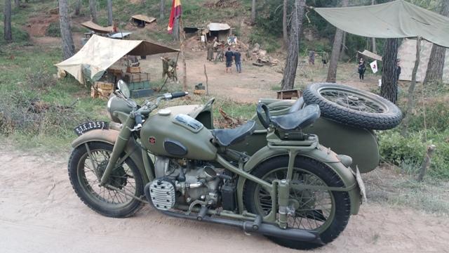 El elegido making off tyreaction vehiculos de escena pelicula epoca 9 alquiler moto militar sidecar