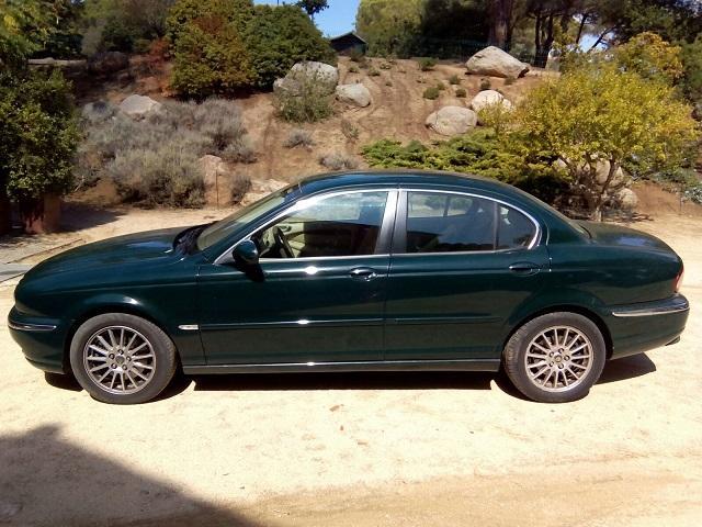 P0044 Jaguar X-Type verde botella lat