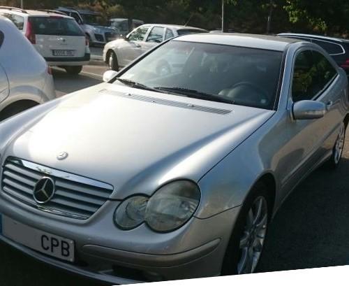 p0044 Mercedes C coupe plata front