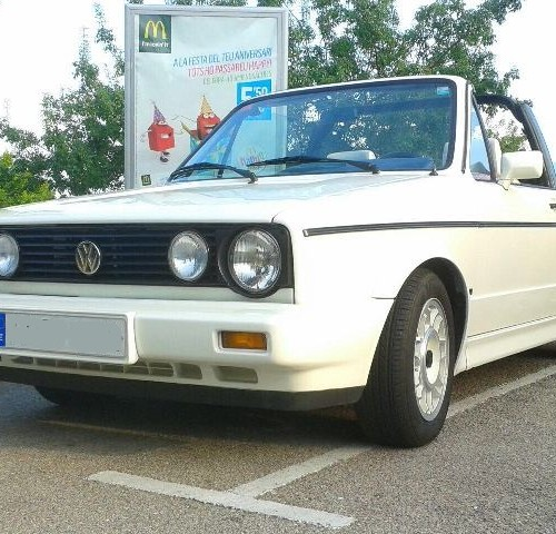 p0044 alquiler volkswagen golf cabrio blanco front