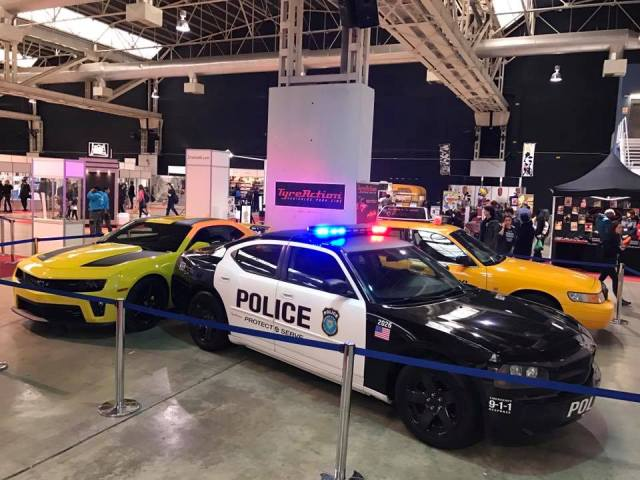 salon cine y series la farga expo coches dodge charger police interceptor barcelona
