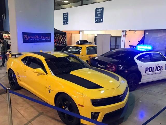 salon cine y series la farga expo coches gran chevrolet camaro transformers barcelona tyreaction