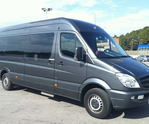 10549 Mercedes Sprinter Mini Bus lateral frontal