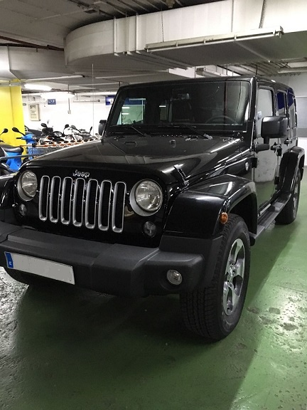 P0099 Jeep wrangler negro front.