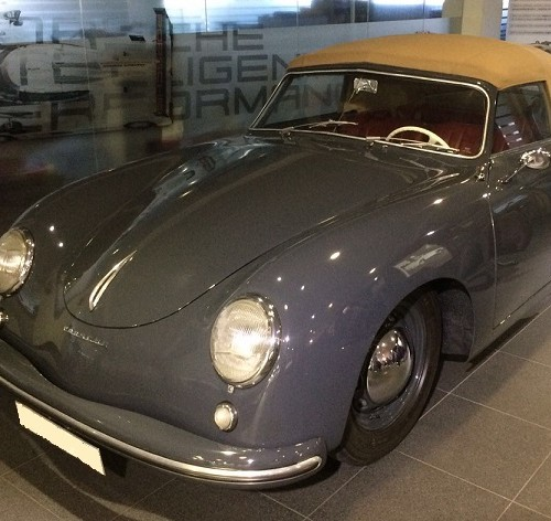 P0057  Alquiler porche 356 gris For rent Prop Action Picture Vehicles in Spain Barcelona Madrid
