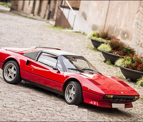 P0057 Alquiler Ferrari 308 rojo frontal alquiler coches clasico For rent Prop Action Picture Vehicles in Spain Barcelona Madrid