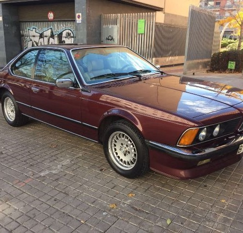 p0018 BMW 628 CSI granate lat