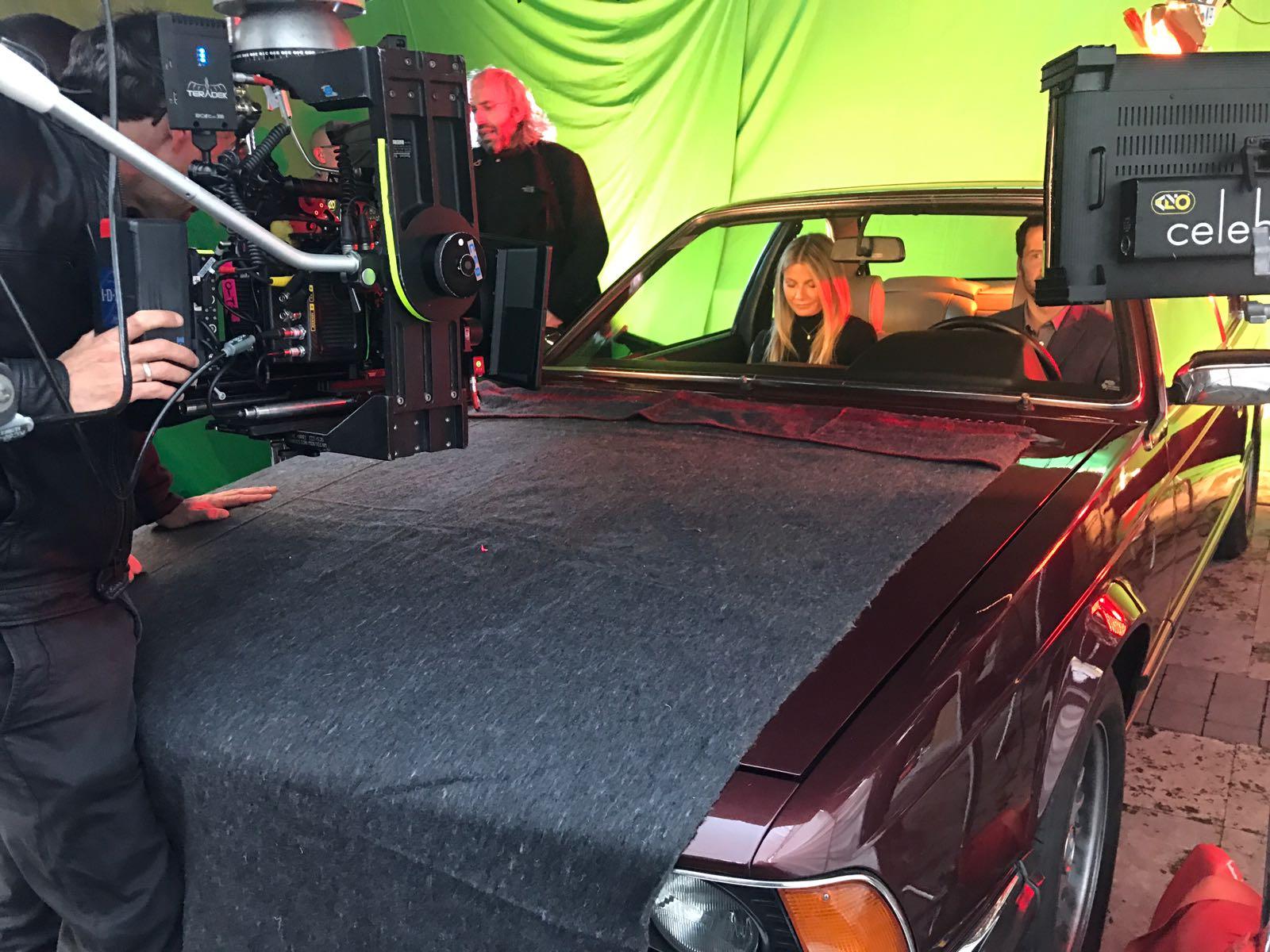 anuncio tous con gwyneth paltrow vehiculo de escena making of tyreaction bmw 2