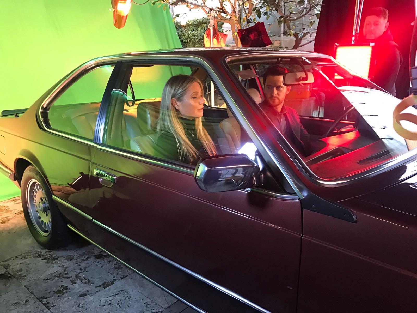 anuncio tous con gwyneth paltrow vehiculo de escena making of tyreaction bmw 3