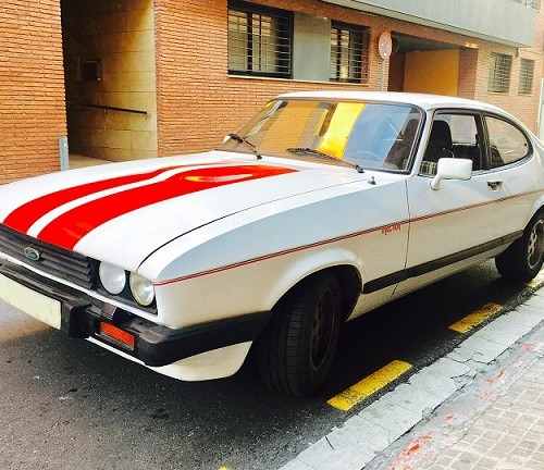 10626 Alquiler ford capri blanco front For rent Prop Action Picture Vehicles in Spain Barcelona Madrid