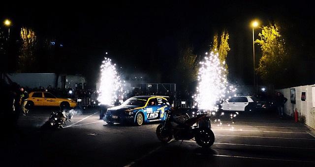 TMS Tyreaction motor show en ace cafe barcelona espectaculo motor efectos especiales sfx chispas