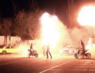 TMS Tyreaction motor show en ace cafe barcelona espectaculo motor explosion efectos especiales stunt bonzo