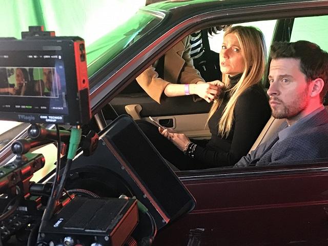 anuncio tous con gwyneth paltrow vehiculo de escena making of tyreaction bmw 4