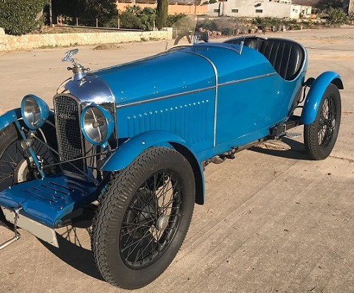 10649 Alquiler Amilcar 1924 color azul lateral For rent Prop Action Picture Vehicles in Spain Barcelona Madrid