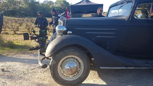 making of vehículos de escena rodaje picasso genius alquiler coches de epoca historicos  para peliculas tyreaction comandante general militar nazi segunda guerra mundial