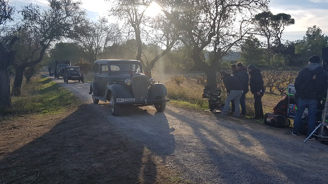 making of vehículos de escena rodaje picasso genius alquiler coches de epoca historicos  para peliculas tyreaction comandante militar nazi segunda guerra mundial