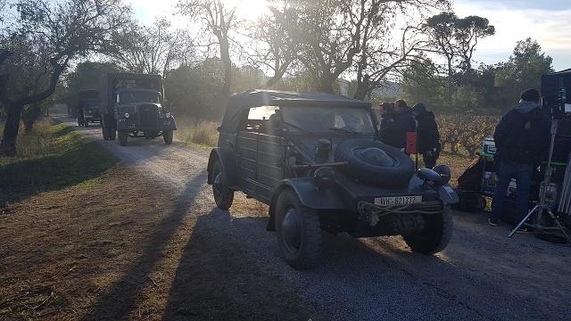 making of vehículos de escena rodaje picasso genius alquiler coches de epoca historicos  para peliculas tyreaction volkswagen kubel wagen militar nazi segunda guerra mundial 5