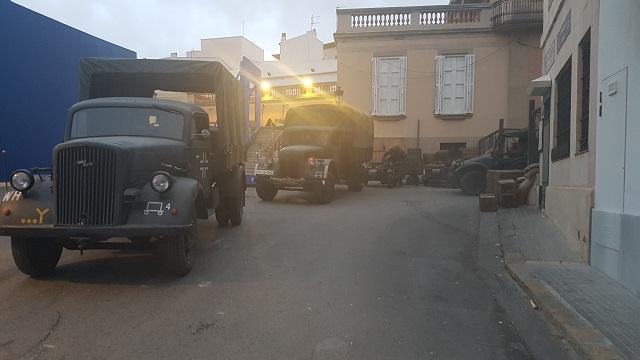 making of vehículos de escena rodaje picasso genius natgeo alquiler coches de epoca historicos  para peliculas tyreaction camiones militares nazis