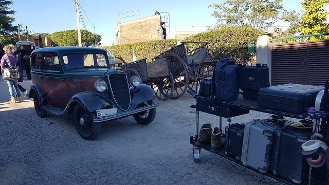 making of vehículos de escena rodaje picasso genius natgeo alquiler coches de epoca historicos  para peliculas tyreaction gernica 3