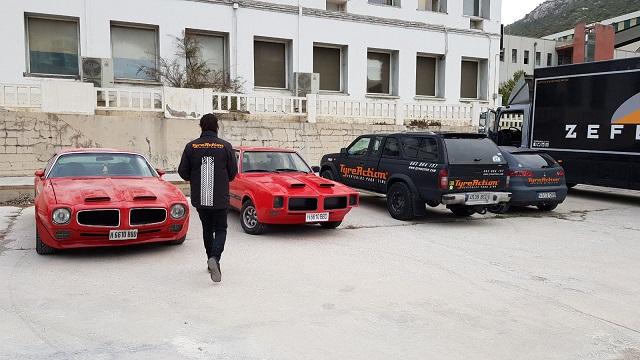 fabricacion ficticios en coches peliculas cine anuncios doble pontiac tyreaction 2