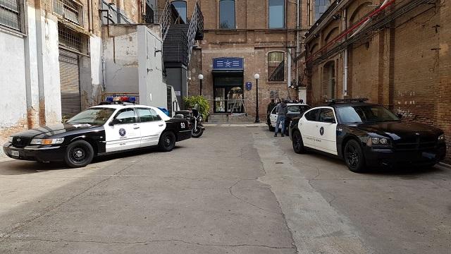 tyreaction rental american police car barcelona film movie advertisement