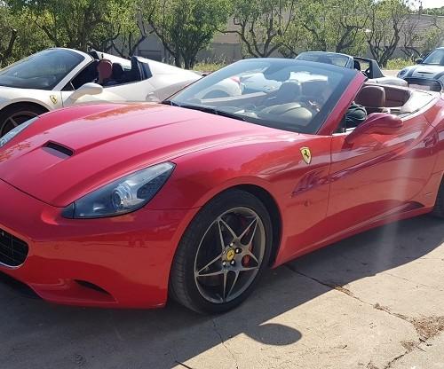 P0180 Tyreaction alquiler ferrari california cabrio descapotable rojo front